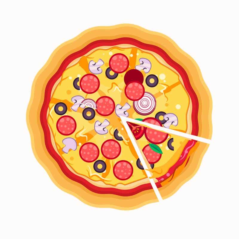 طرح کلیپ آرت پیتزای مخلوط