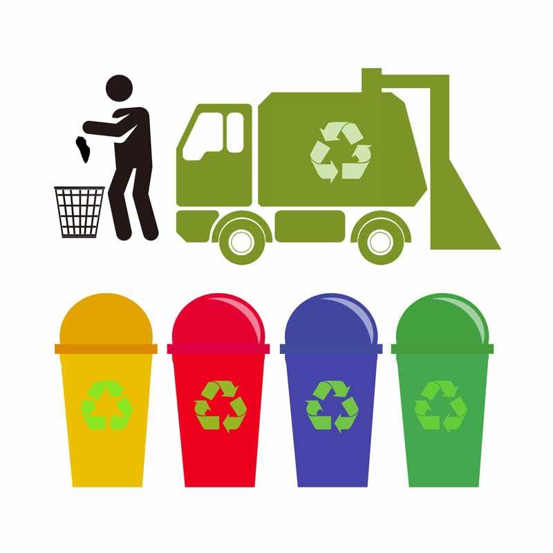 طرح کلیپ آرت فرایند بازیافت زباله