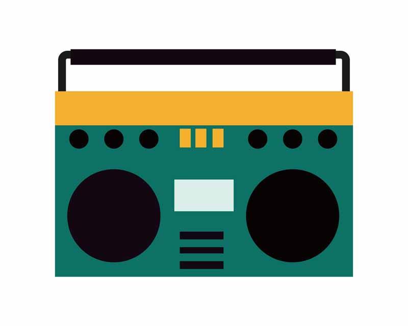 طرح کلیپ آرت رادیو قدیمی