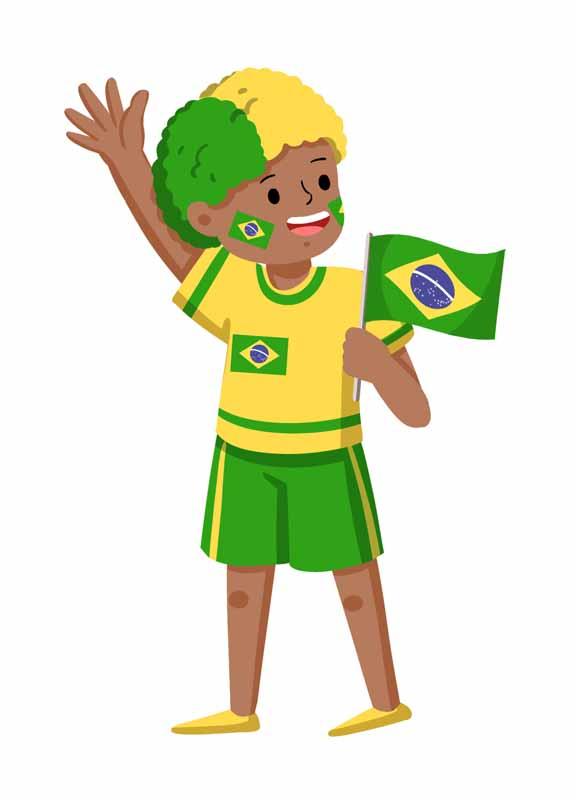 طرح کلیپ آرت هوادار برزیلی