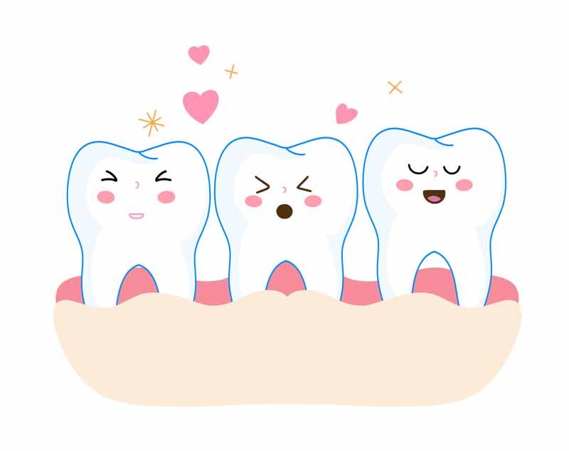 طرح کلیپ آرت دندان های تمیز