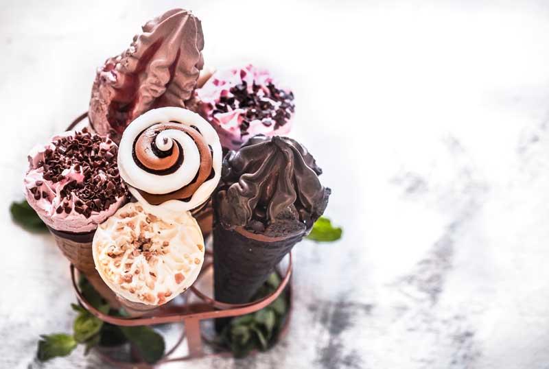 دانلود تصویر انواع بستنی قیفی