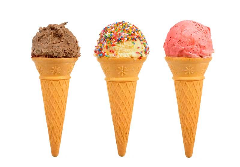 تصویر انواع بستنی قیفی
