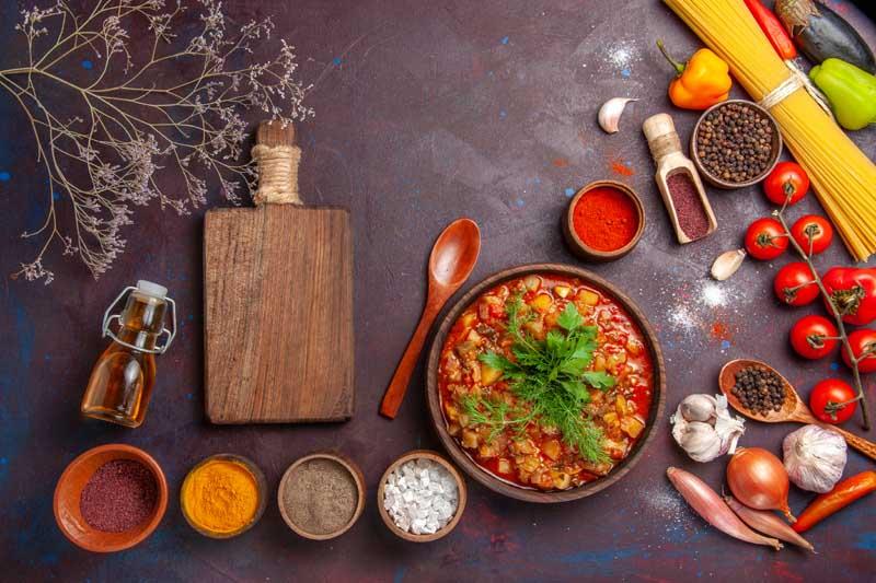 دانلود تصویر مواد اولیه آشپزی