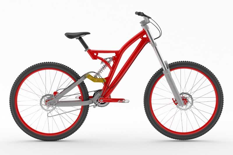 عکس دوچرخه کوهستانی قرمز