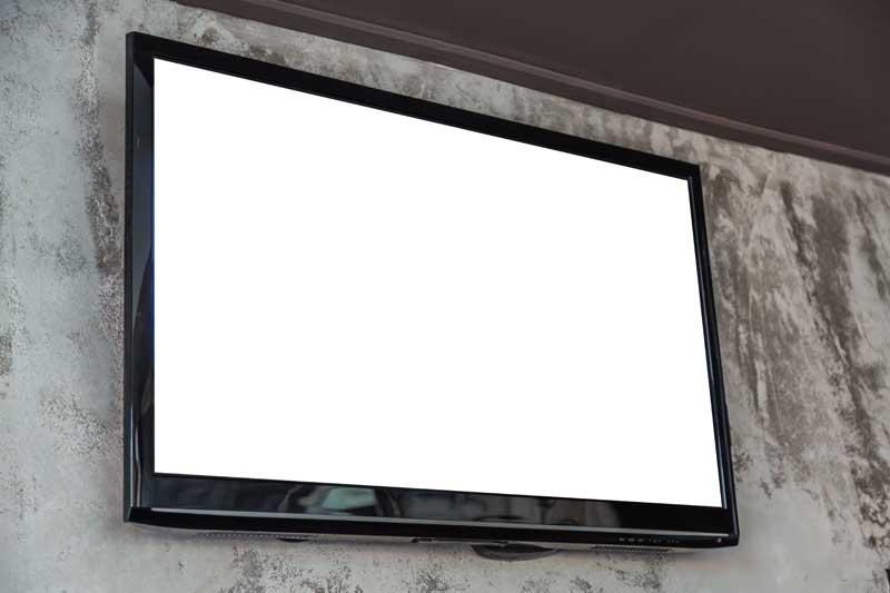 دانلود تصویر تلویزیون روی دیوار