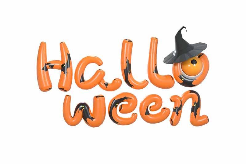 طرح کلیپ آرت شب نارنجی و مشکی هالووین