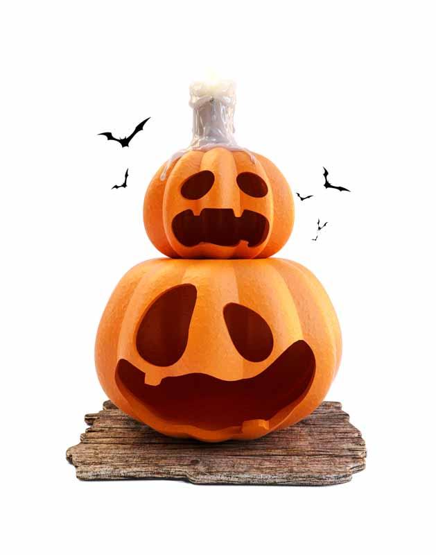 دانلود طرح کلیپ آرت کدوحلوایی های شب هالووین