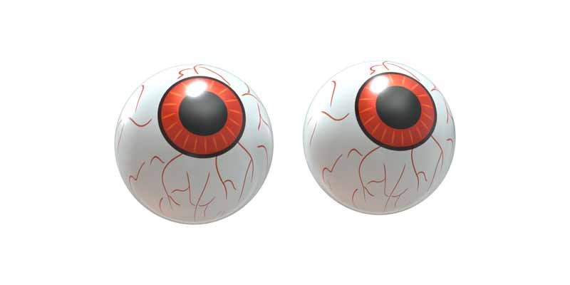 طرح کلیپ آرت چشم مصنوعی ترسناک