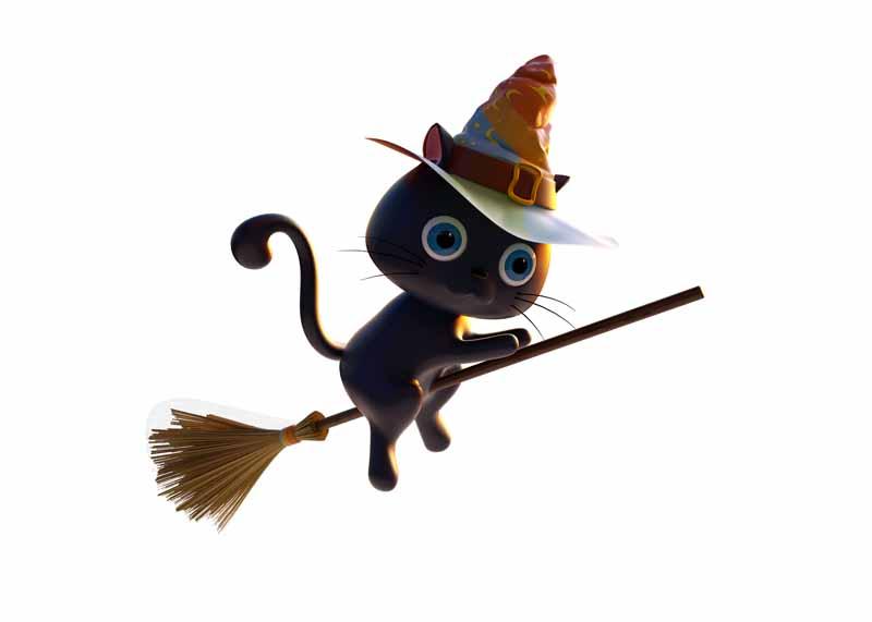 طرح كليپ آرت گربه جادوگر