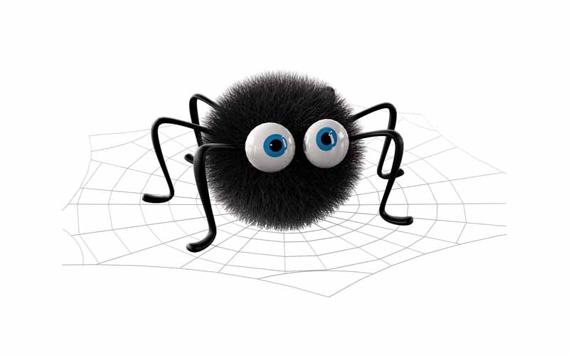 طرح کلیپ آرت عنکبوت سیاه