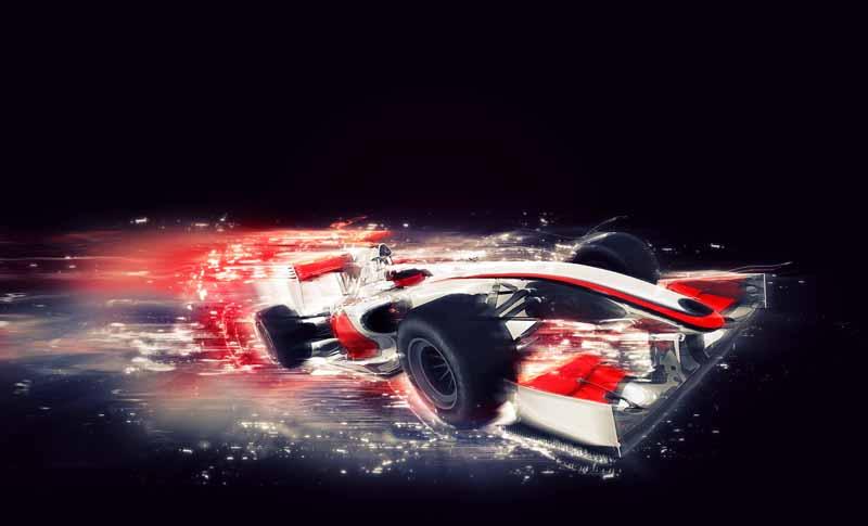 تصویر باکیفیت ماشین عمومی F1 باجلوه سرعت ویژه