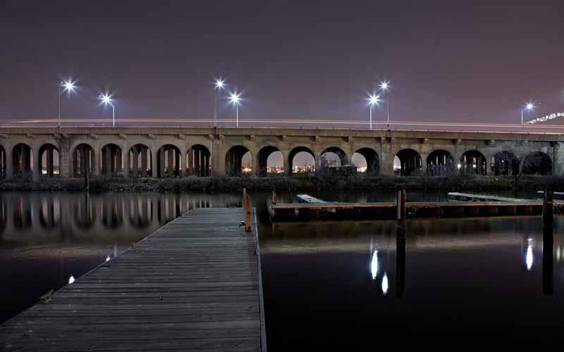عکس اسکله و پل