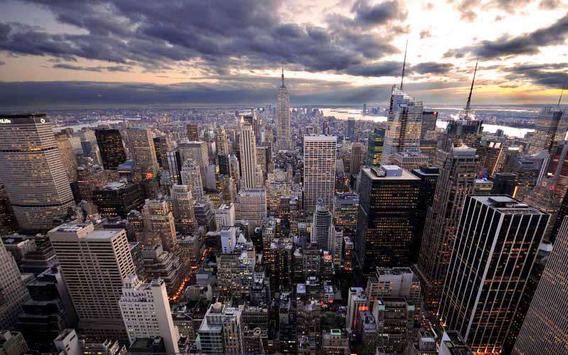 عکس کلان شهر از نمای بالا