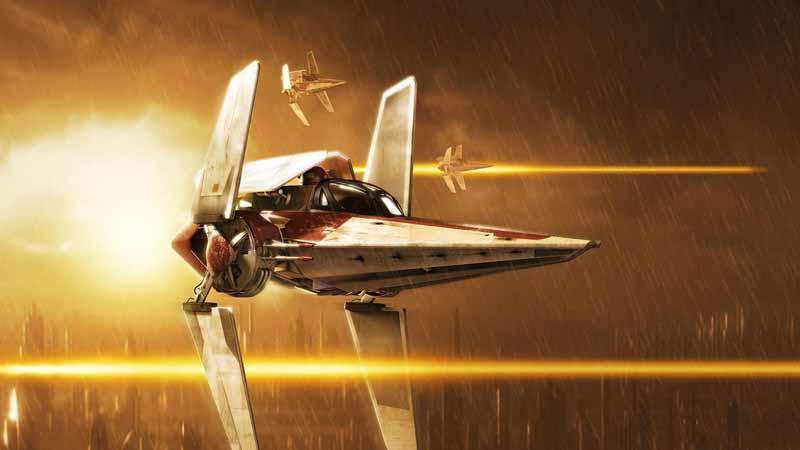تصویر بازی کامپیوتری با طرح سفینه جنگی