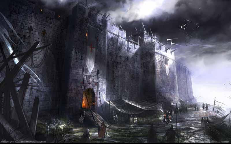 تصویر بازی کامپیوتری با طرح قلعه