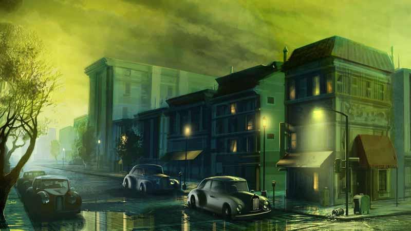 تصویر بازی کامپیوتری با طرح شهر کلاسیک