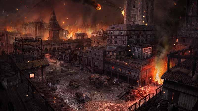 تصویر بازی کامپیوتری با طرح شهر سوخته