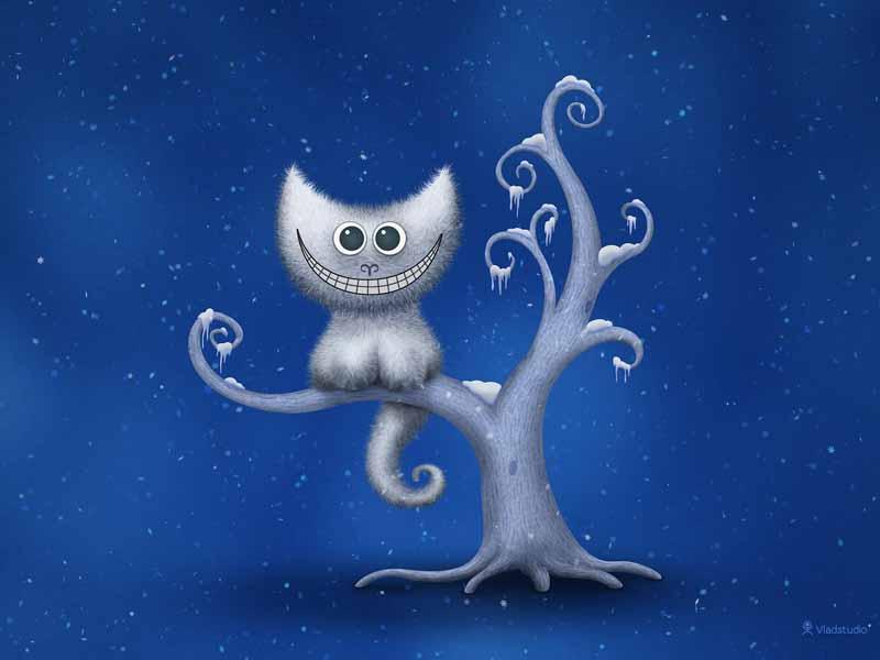 تصویر بازی کامپیوتری با طرح گربه پشمالو