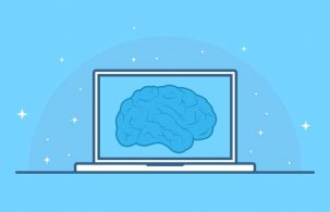 دانلود عکس کارتونی لپ تاپ و ذهن خلاق