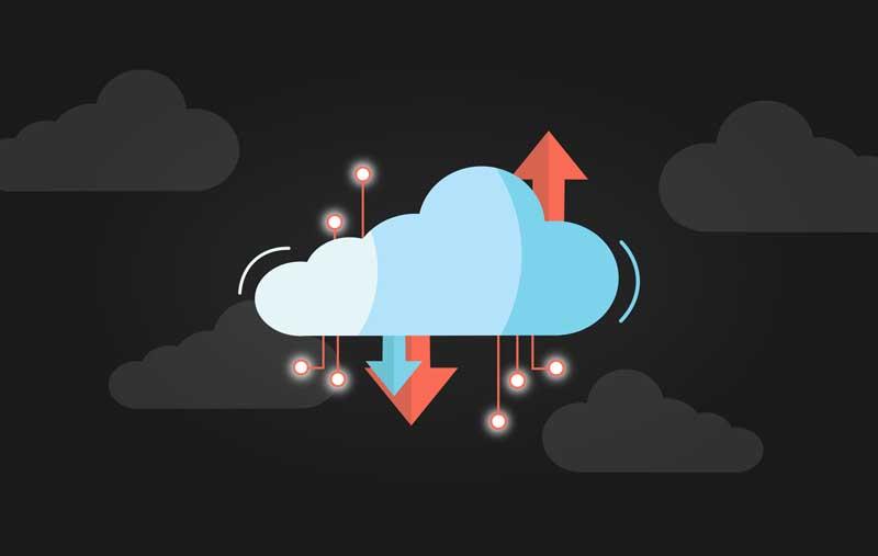 عکس باکیفیت فضای ابری و انتقال اطلاعات