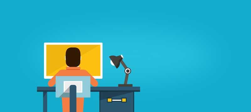 دانلود عکس کارتونی کار با کامپیوتر