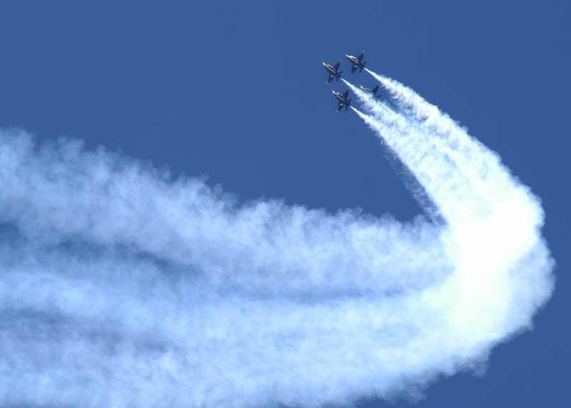 عکس با کیفیت نمایش هوایی جنگنده ها