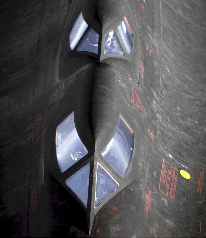 عکس کابین بمب افکن از نمای بالا
