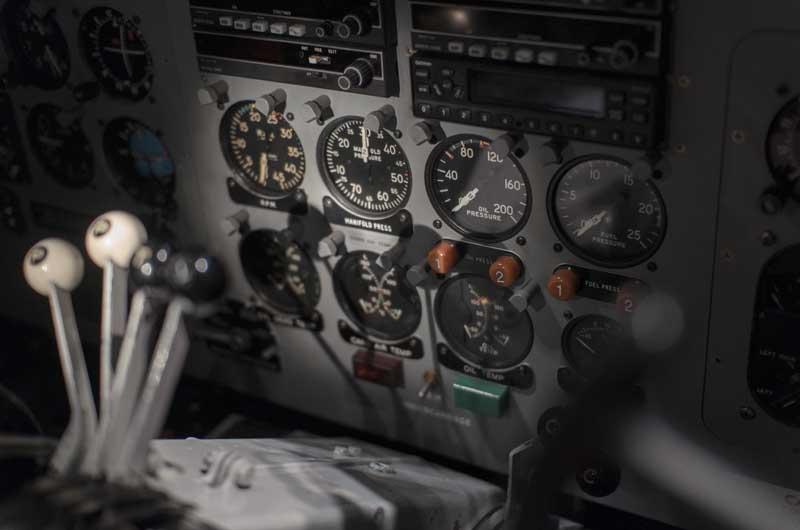 تصویر کابین هواپیما از نمای نزدیک