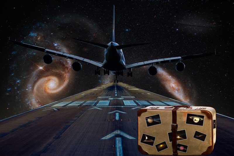 تصویر فانتزی فرود هواپیما