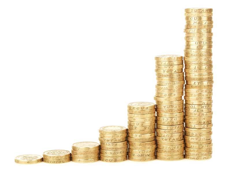 دانلود تصویر سکه های طلا با طرح نمودار