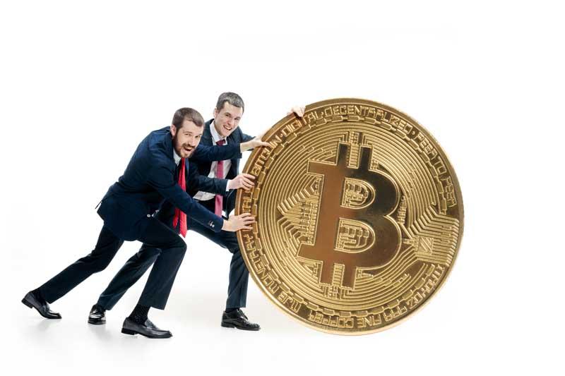 تصویر سکه بیت کوین بزرگ