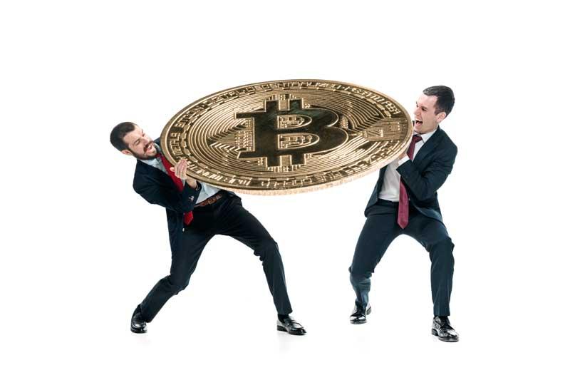 دانلود تصویر سکه بیت کوین بزرگ