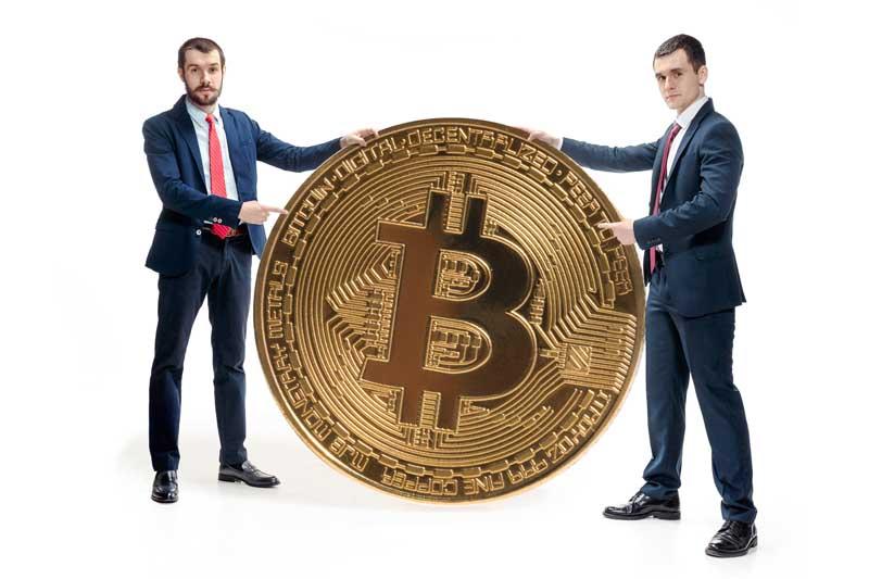 دانلود تصویر باکیفیت سکه بیت کوین بزرگ