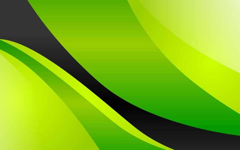 تصویر پس زمینه سبز با موج مشکی