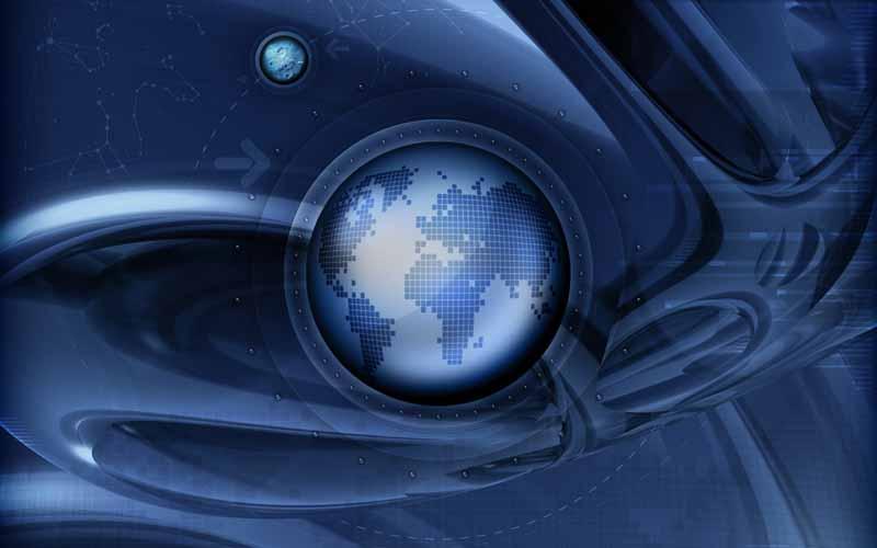 تصویر پس زمینه با طرح کره زمین
