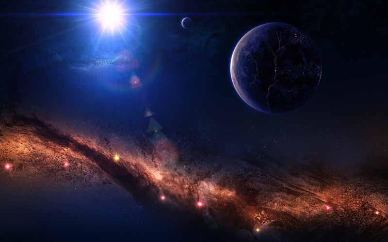 تصویر باکیفیت سیاره زمین در مدار خورشیدی