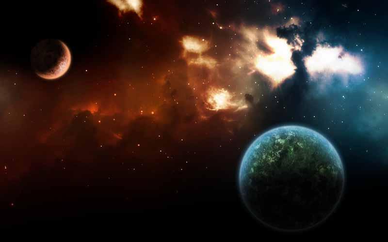 دانلود تصویر باکیفیت سیاره زمین در مدار خورشیدی