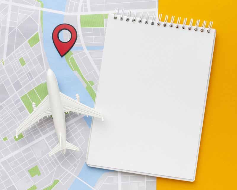 تصویر سفر هوایی و نقشه