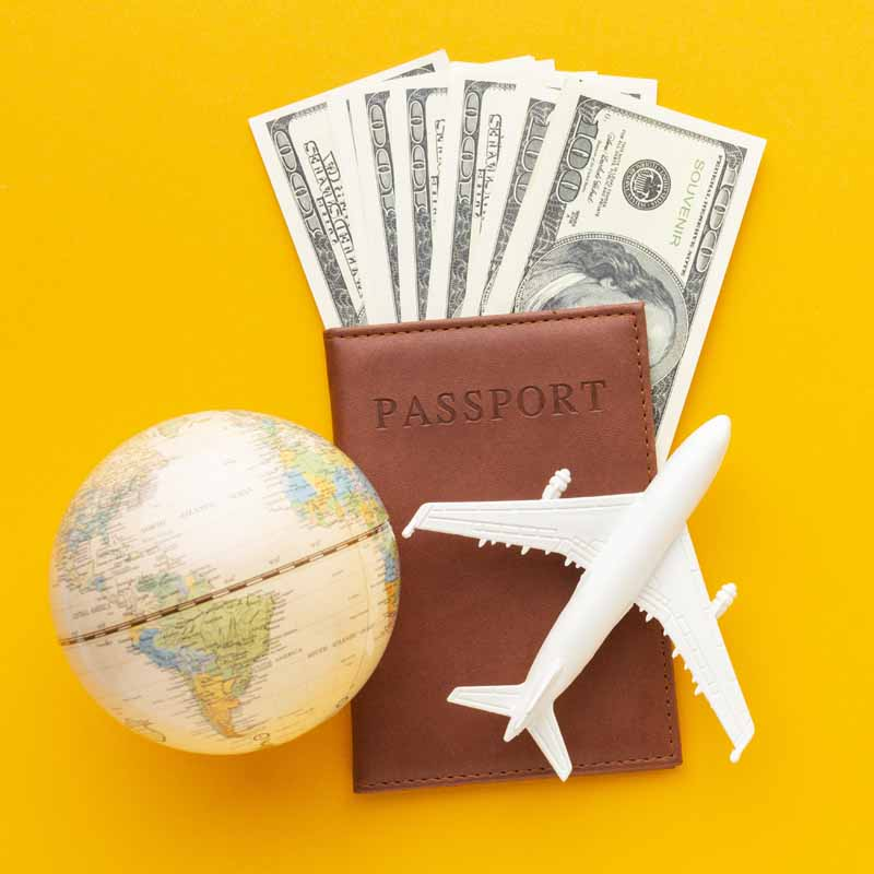 دانلود تصویر با کیفیت سفر هوایی و پاسپورت