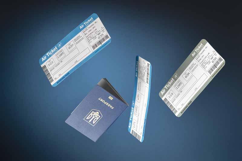 دانلود تصویر باکیفیت بلیط هواپیما و پاسپورت