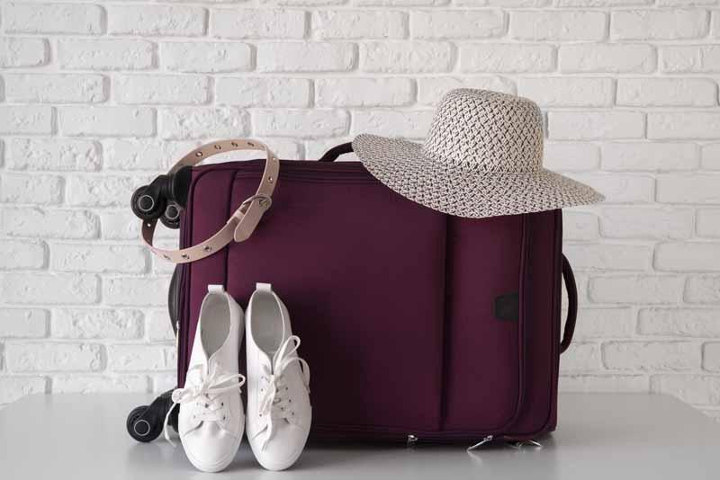 دانلود تصویر کفش و چمدان